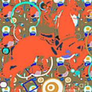 Cowboy Kaleidoscope Art Print