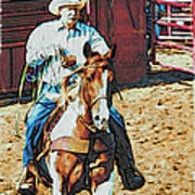 Cowboy On Paint Art Print
