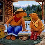 Cowboy Romance Art Print