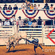 Cowboy Up Art Print by Charles Dobbs