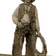 Cowboy With Woolies Cowboy Hat 1900 Art Print