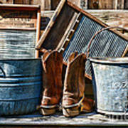 Cowboys Have Laundry Too Art Print