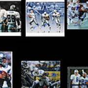 Cowboys Triple Threat  Autographed Reprint Art Print