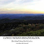 Cowee Mountains Overlook Art Print