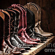 Cowgirl Boots Collection Art Print