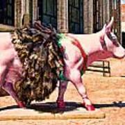 Cow Parade N Y C 2000 - Prima Cowlerina Art Print