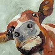 Cow's Eye View Art Print