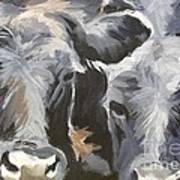 Cows In Waiting Art Print