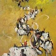 Cows Art Print by Negoud Dahab