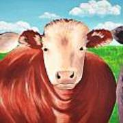 Cows Out To Pasture Art Print