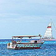 Cozumel Excursion Boats Art Print