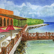 Cozumel Mexico Little Pier Art Print