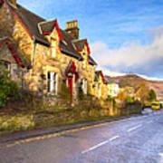 Cozy Cottage In A Scottish Village Art Print by Mark E Tisdale