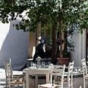 Cozy Greek Taverna Art Print