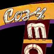 Cozy Mo - Black Art Print