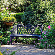 Cozy Southern Garden Bench Art Print
