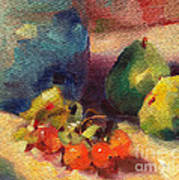 Crab Apples And Pears Art Print