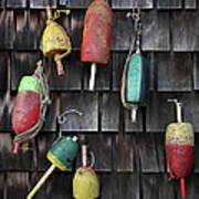 Crab Pot Floats Art Print
