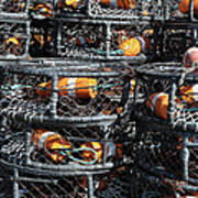 Crab Pots Art Print by Brandon Bourdages