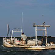 Crabbing Smith Island Md Art Print