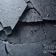 Cracked Asphalt Macro Art Print