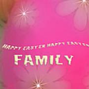 Cracked Happy Easter Art Print