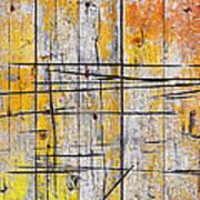 Cracked Wood Background Art Print by Carlos Caetano