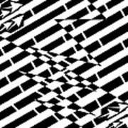 Cracks In The Pavement Maze  Art Print