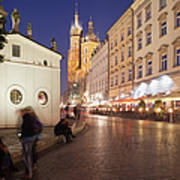 Cracow By Night In Poland Art Print