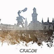 Cracow City Skyline Art Print