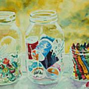 Craft Room Pickles Art Print