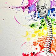 Crainial Sacral Chakra Art Print by James Foote