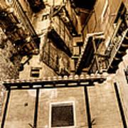 Crammed Floors In Albarracin Art Print