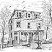 Cranberry's Cafe Circa 1884 Art Print