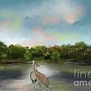 Crane Habitat Art Print