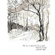 Crane Mtn Trailhead Art Print