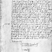 Cranmer Declaration, 1537 Art Print