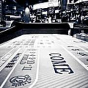 Craps Table In Las Vegas Art Print
