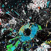 Crash Of The Eye Galaxy Art Print