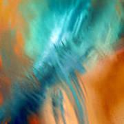 Crashing At Sea Abstract Painting 4 Art Print