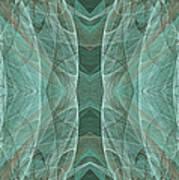 Crashing Waves Of Green 2 - Panorama - Abstract - Fractal Art Art Print