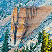 Crater Lake Pumice Castle Art Print
