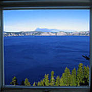 Crater Lake Through Our Window Art Print