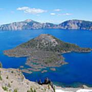 Crater Lake Wizard Island Art Print