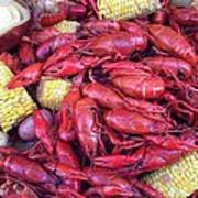 Crawfish Time In Louisiana Art Print