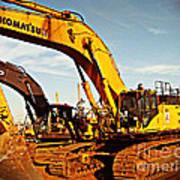 Crawler Excavator - Komatsu - Digger - Machinery Art Print