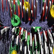 Crayon Explosion Art Print