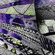 Crazy Cones Purple Greenl2 Art Print