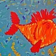 Crazy Fish Art Print