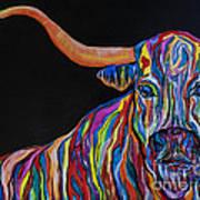 Crazy Woman Bull Art Print